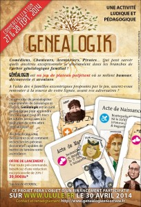 Flyer jeu Genealogik
